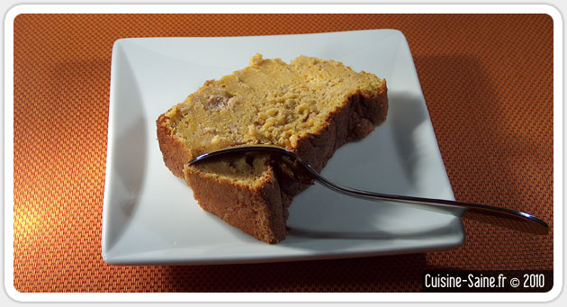 Recette sans gluten : cake à la courge butternut et fève tonka