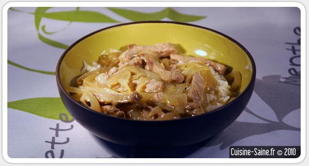 Recette bœuf aux oignons sans gluten ni lactose