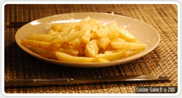 Recette bio : frites de céleri rave