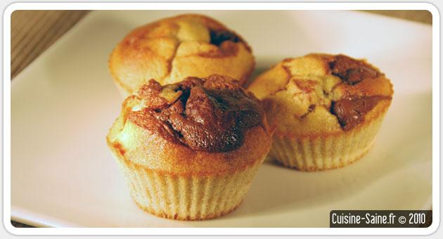 Recette sans gluten : muffins bananes / chocolat