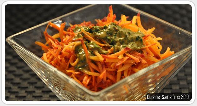 Recette sans gluten : salade de carotte et de potiron