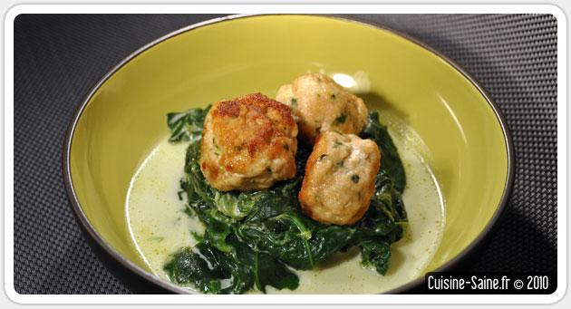 Recette sans gluten : boulettes de poulet à la coriandre
