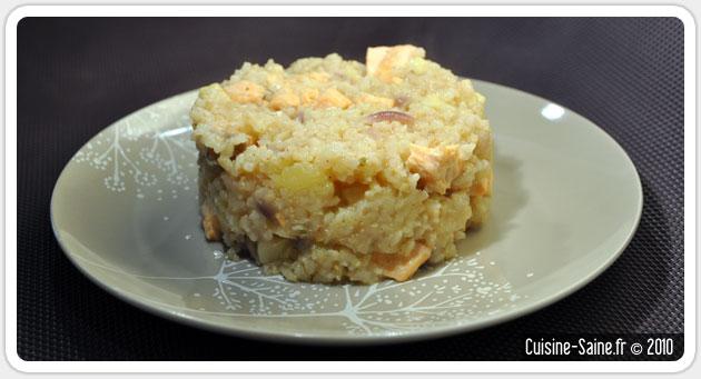 Recette bio : saumon façon risotto de panais