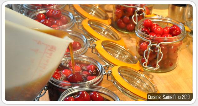Recette bocaux : cerises au sirop au thé