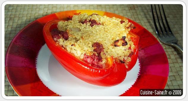 Recette bio poivrons farcis au quinoa blog cuisine - Blog cuisine bio saine ...