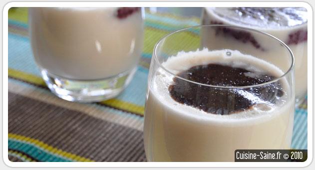 Dessert bio : blanc manger à la myrtille