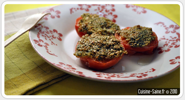 Recette bio : tomates provencales