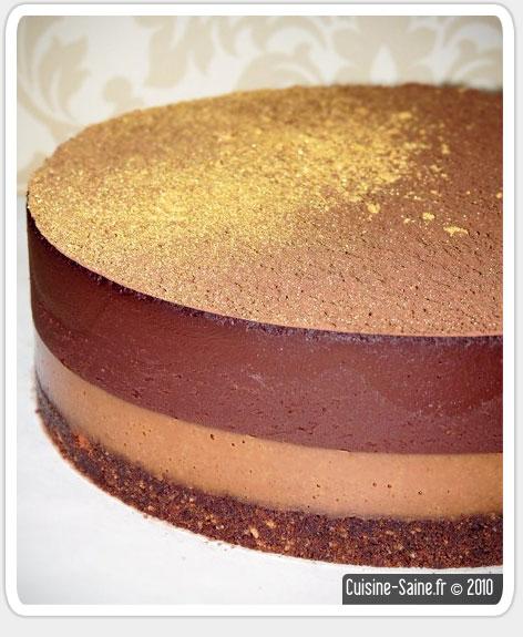 Gâteau vegan au chocolat praliné