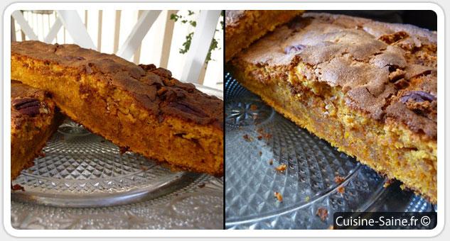Concours cuisine : gâteau potiron chocolat blanc noix de pécan