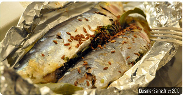 Recette sans gluten : sardines en papillote
