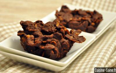 Dessert bio : rose des sables au chocolat