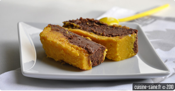 Recette bio : gâteau duo de chocolat et courge butternut
