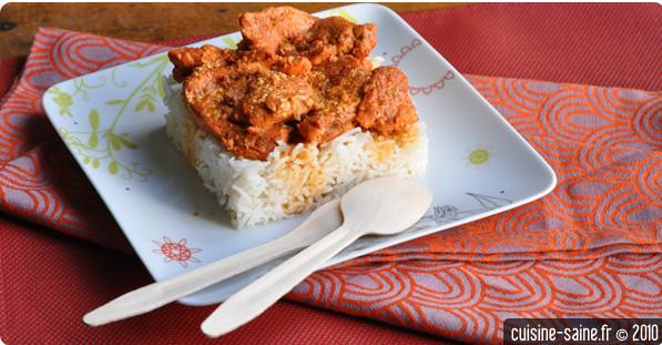Recette sans sel : poulet tandoori
