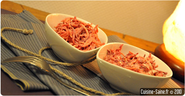 Recette bio rapide : coleslaw de légumes racines