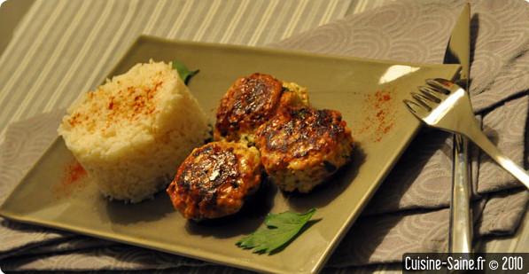 Recette minceur : croquette de poulet / jambon