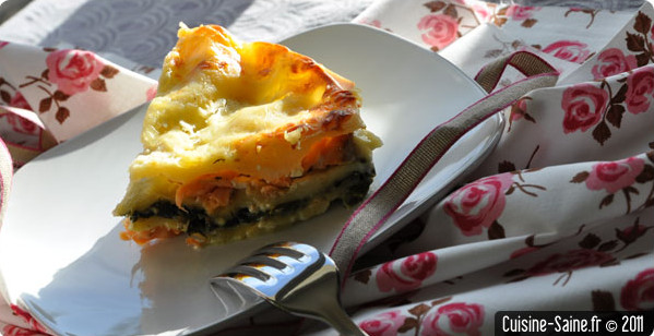 Recette sans gluten : lasagnes sans gluten saumon et épinard