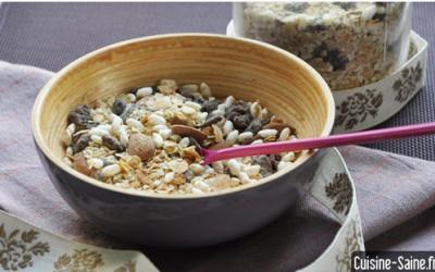 Recette bio rapide : muesli sans gluten