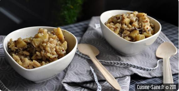 Recette graines germées : risotto de panais aux graines germées de brocolis