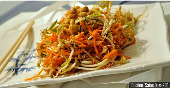 Recette graines germées : salade de pousses de soja