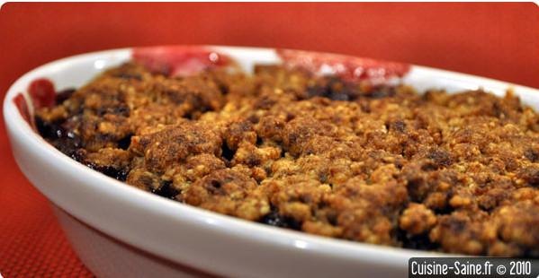Recette bio : crumble aux cerises sans gluten