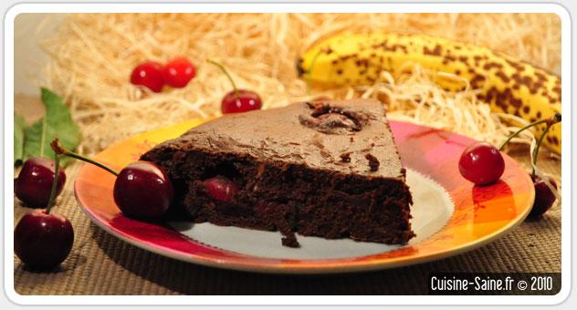 Recette sans gluten : fondant au chocolat / cerise tout léger
