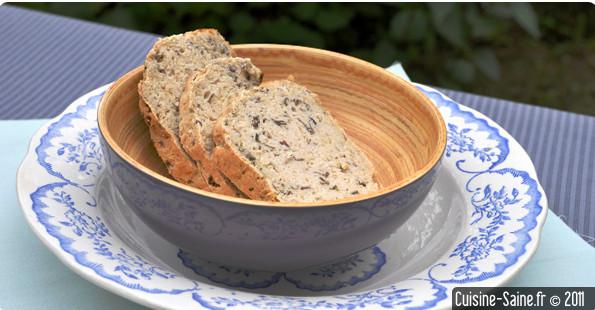 Recette sans gluten : pain sans gluten aux algues