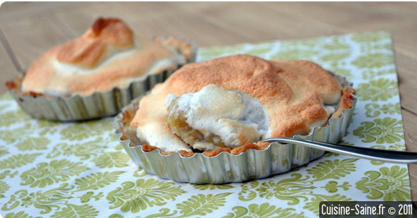 Recette sans gluten : tarte à la rhubarbe meringuée