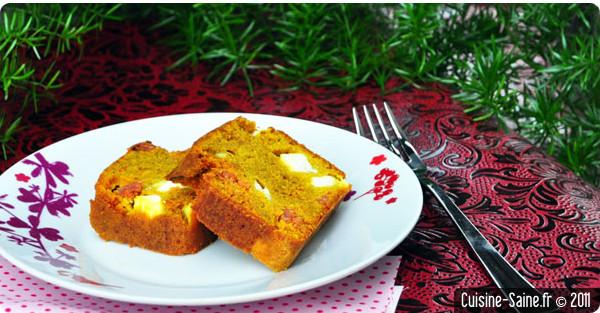 Recette bio : cake au chorizo et feta