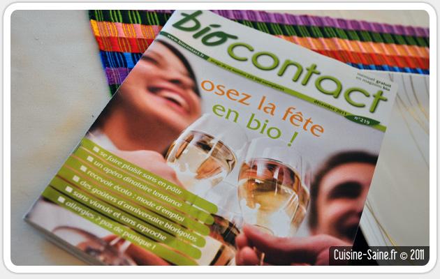 Blog cuisine bio presse : la fête en bio