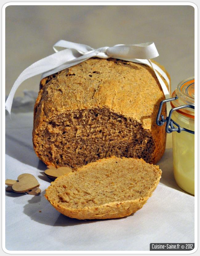 Recette bio : pain de kamut aux graines de lin à la MAP