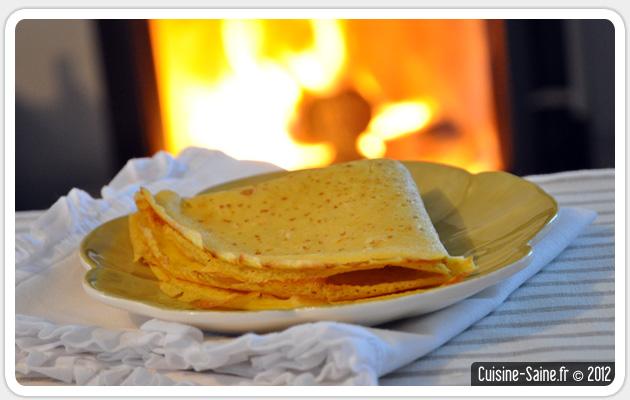 Recette bio : crêpe à l'orange sans gluten