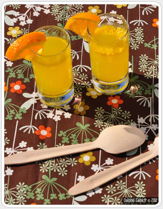 Recette de soda sans sucre : orangeade bio