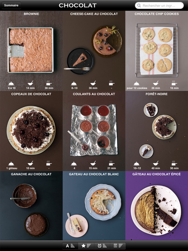"""Blog cuisine bio test : application ipad Marabout """"mon cours de cuisine"""""""