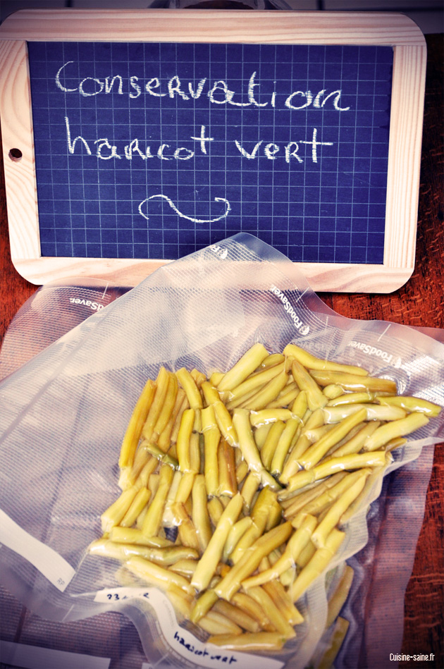 Blog cuisine astuce : conserver les haricots verts