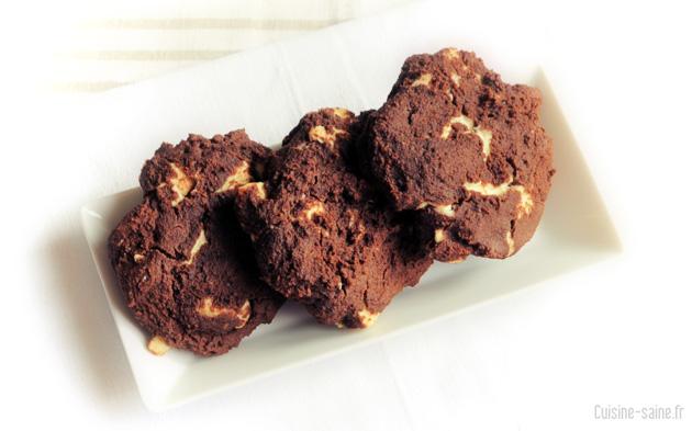 Recette sans gluten : cookie choco / coco