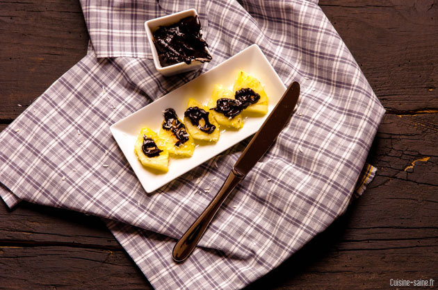 recette sans gluten ni caséine : ananas coco chocolat