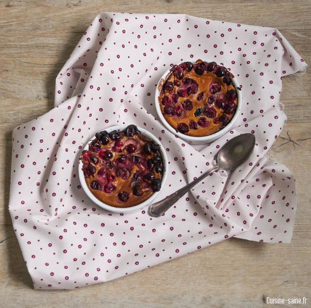 Recette sans sucre et sans gluten : clafoutis de cranberries