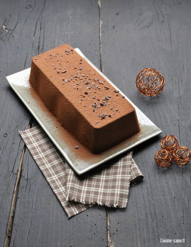 Recette sans gluten sans oeuf b che de no l chocolat noisettes blog cuisine saine sans - Buche marron chocolat sans cuisson ...