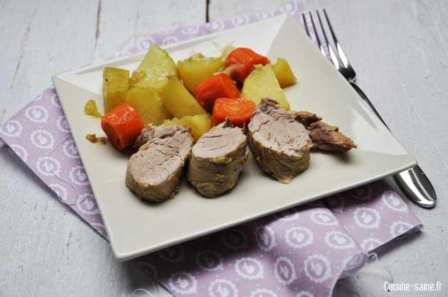 filet mignon carotte et pomme de terre