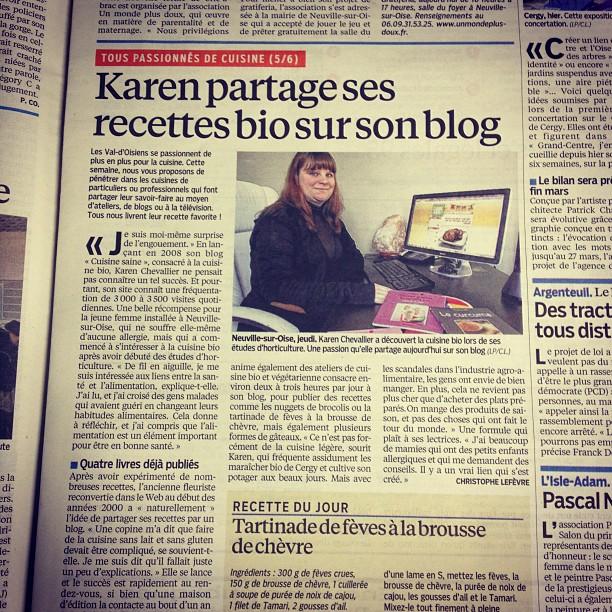 Blog cuisine bio : revue de presse