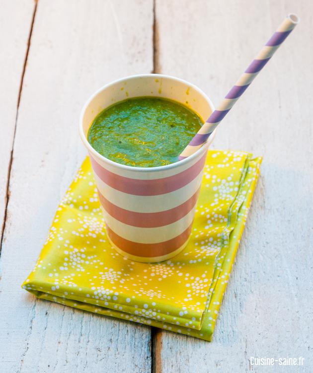 Recette bio : smoothie vert
