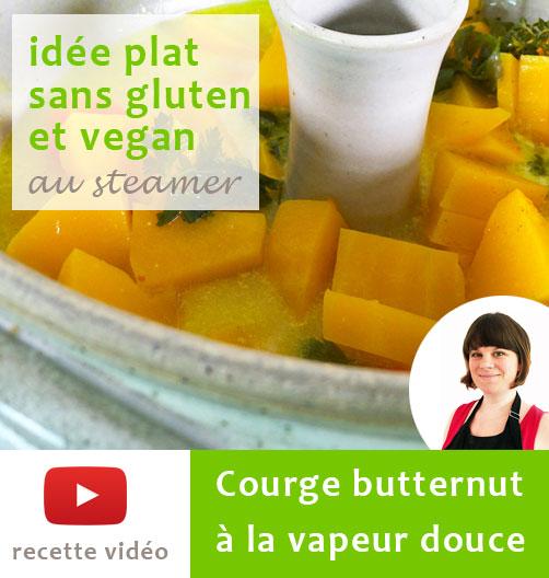 Idée plat sans gluten et vegan au steamer