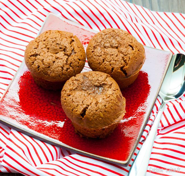 Recette sans gluten : petits moelleux chocolat / amande