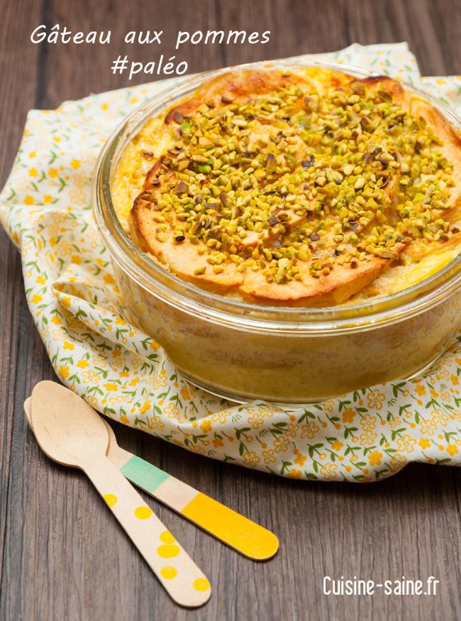 Recette paléo : gâteau aux pommes
