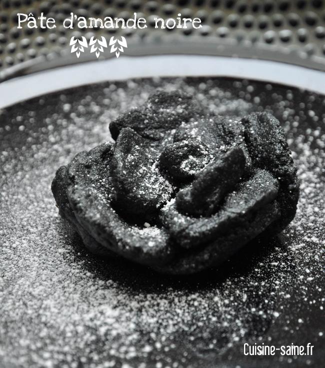 pate d'amande noire