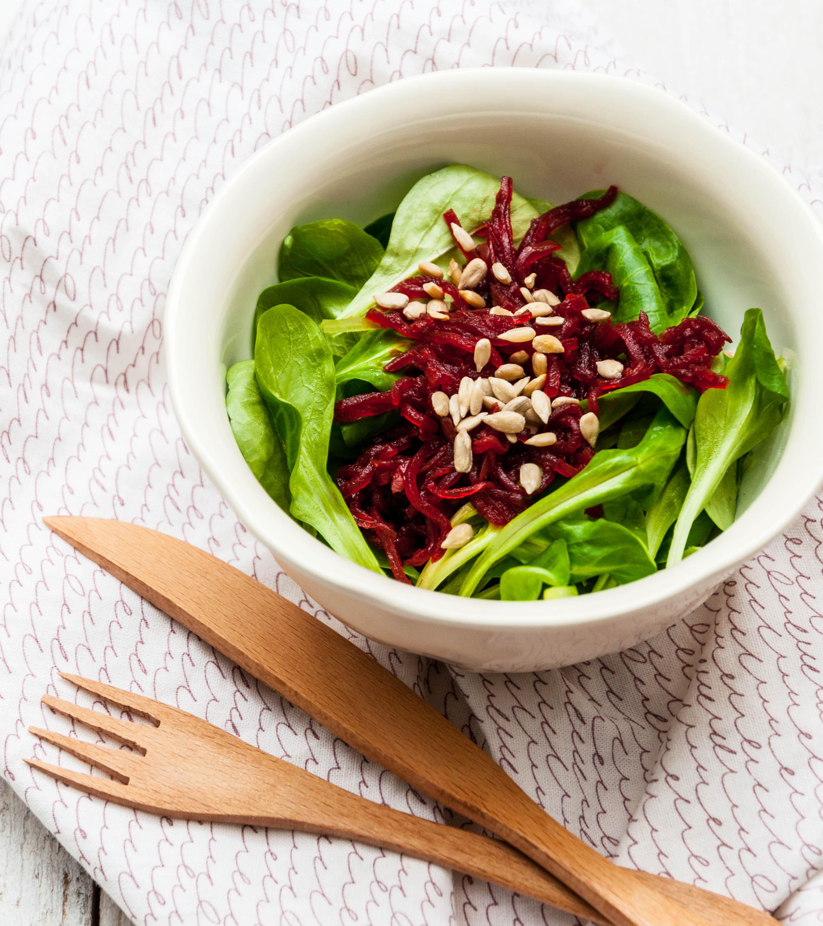Salade de mache et beterrave lacto ferment blog cuisine - Cuisine saine et simple ...