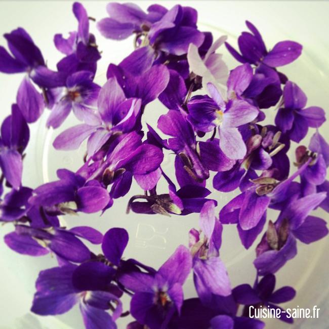 Violette cristallisée