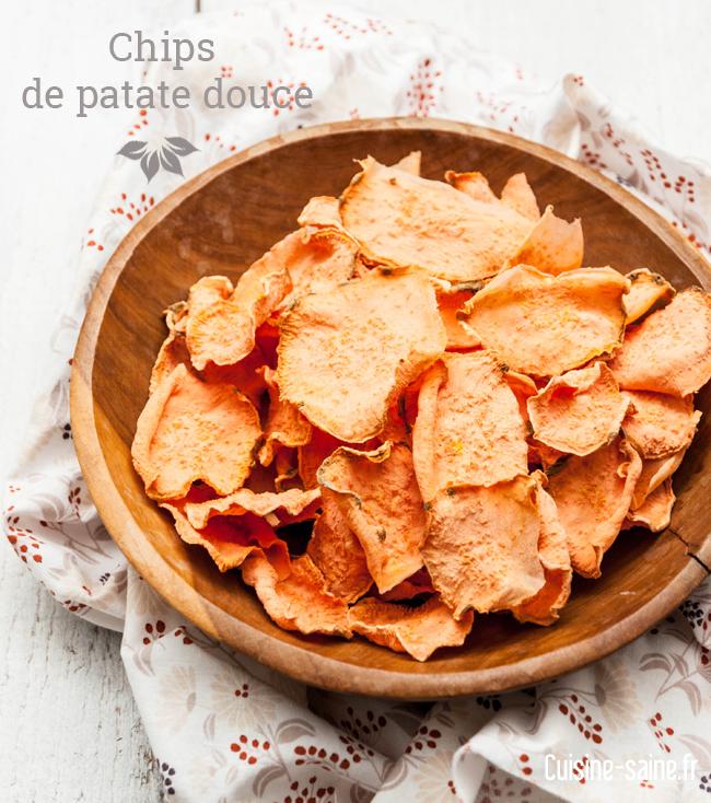 chips de papate douce sans gluten, paléo
