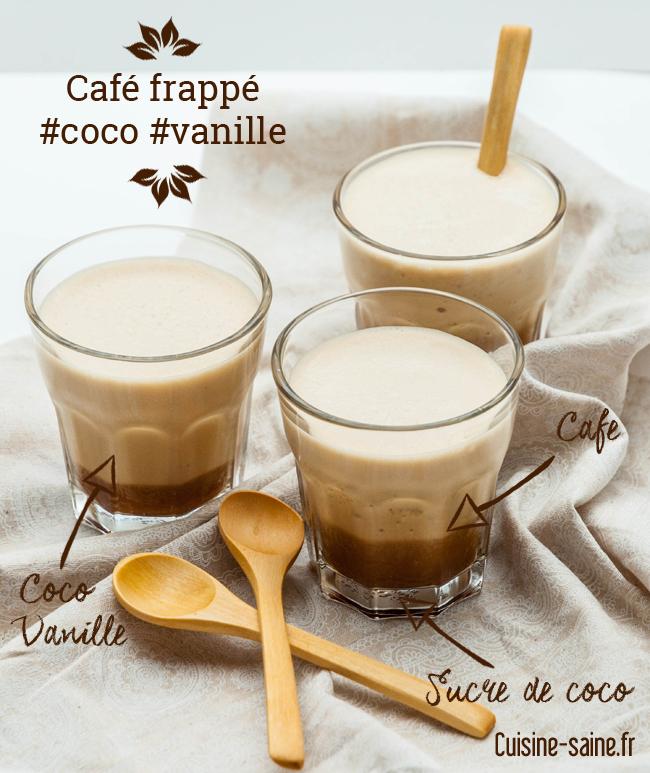 Café frappé coco vanille