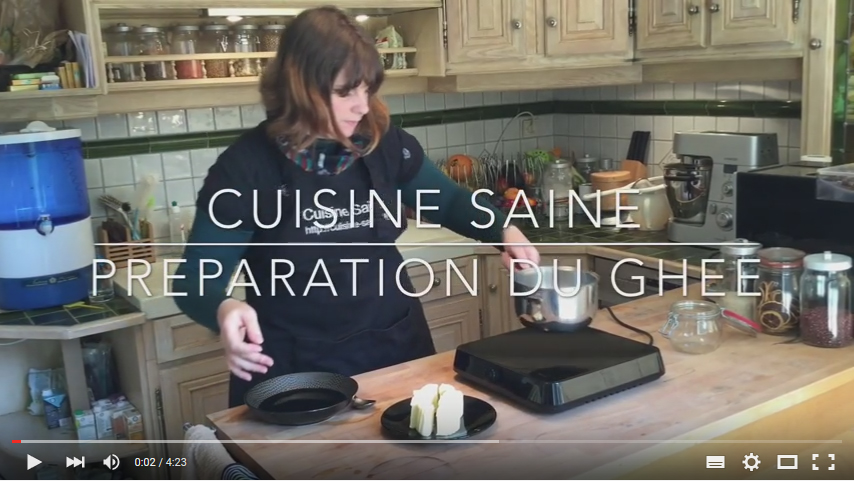 pr paration du ghee ou beurre clarifi blog cuisine saine sans gluten sans lait. Black Bedroom Furniture Sets. Home Design Ideas